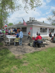 Festival goers enjoy a myriad of Polish and other food choices on Sunday, May 18, 2014.