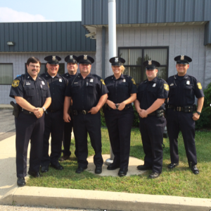 Pictured from left to right:  Reserve Commander Jim Dufour; Reserve Police Officer Erik Eastridge; Reserve Police Officer Justin Hill; Reserve Police Officer Aaron Wilmoth; Reserve Police Officer Meredith Foster; Reserve Police Officer James Stocking; Reserve Police Officer Clint Smith.