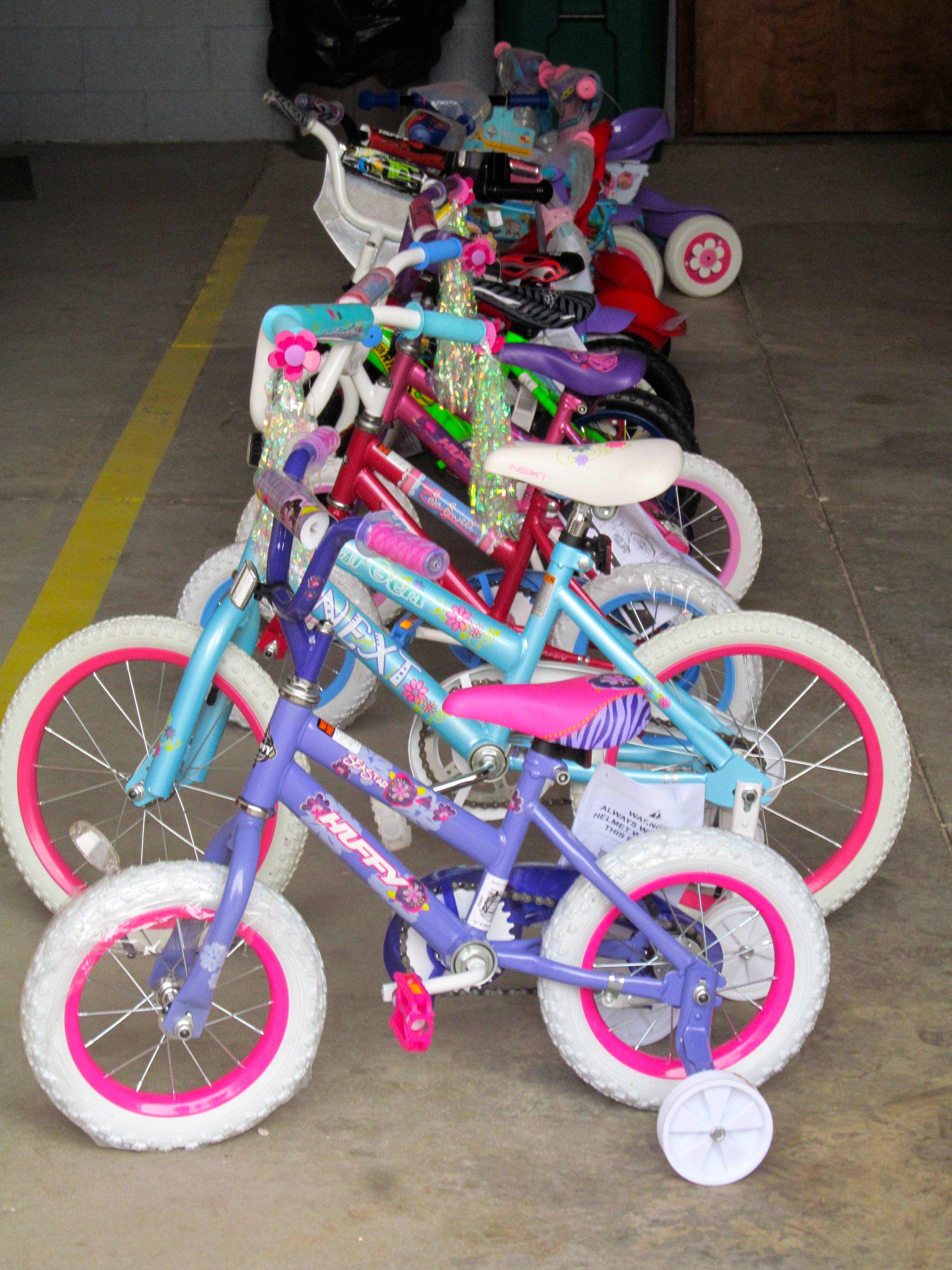 Bikes Toys For Tots Or Bust : Huron township romulus police departments distribute