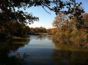 File photo of the Huron River in Huron Township.
