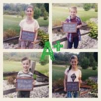 Halley 10th, Emma 7th, Sawyer 3rd and Levi Kindergarten.