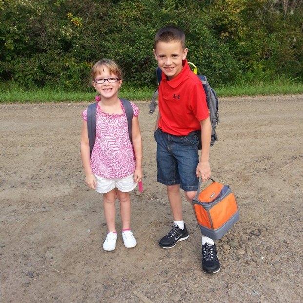 Lexie, 2nd Grade. Aidan, 4th.