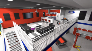 A concept drawing of what one of the condos might look like. Photo courtesy of heritagefarmsmotorplex.com.