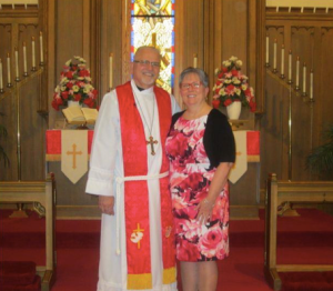 Rev. Schwartz and his wife Susan. Photo courtesy of church member Linda Dyer.