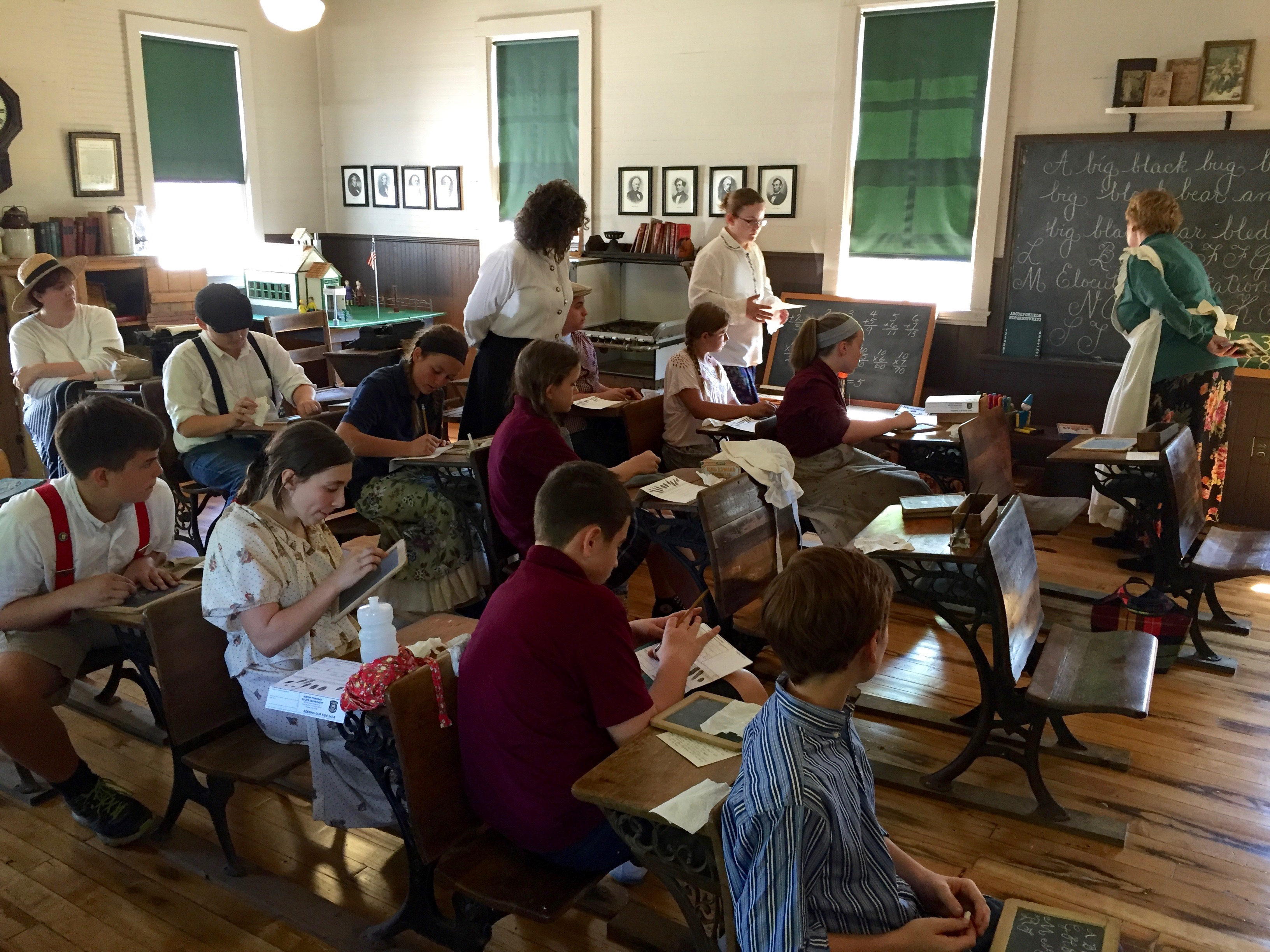 Students go back in time, spend the day at historical Willow School