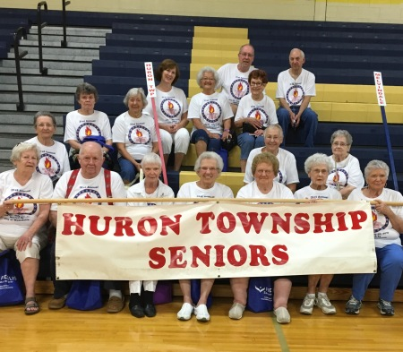 Over 15 seniors from Huron Township are participating in the 2016 Downriver Senior Olympics in Wyandotte this week. Photo courtesy of Linda Dyer.